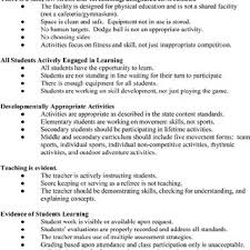 Sample Evaluation Form For A School Physical Education Program Audit ...