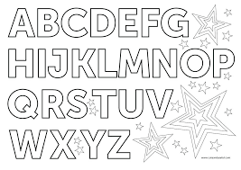 Letter Coloring Pages Free Kinkenshopinfo