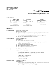 todd whiteoak resume - Brand Ambassador Resume Sample