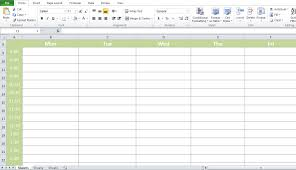 Professional Conference Room Scheduler Template Excel Tmp