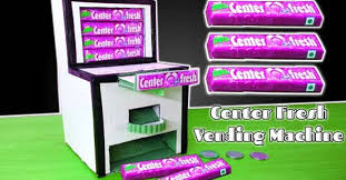 How To Make A Chocolate Vending Machine Enchanting How To Make Center Fresh Gum Vending Machine At Home From Cadboard