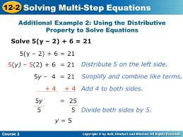 solve 5 y 2 6 21 additional example 2 using
