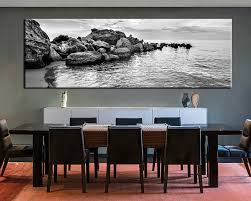 1 piece art black and white wall decor  on huge framed wall art with dining room canvas kemist orbitalshow