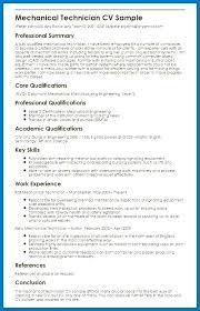 Dental Technician Cv Mechanical Technician Resume Sample Airexpresscarrier Com