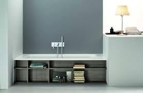 bathtubs with storage shelves