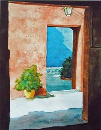 open door painting. Open Door Painting By Anna Lohse