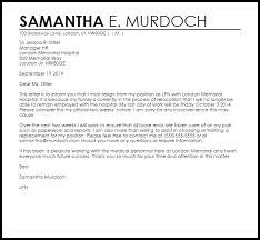 Official Resignation Letter Best Resignation Letter Example Due To Relocation Letter Samples