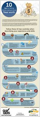 best images about job interview infographics 10 tips for letting federal employers know your worth