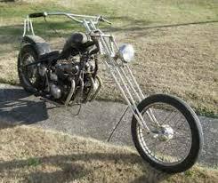 mid 1970 s era honda cb750 old school chopper type motorcycle for