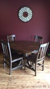 48 round with 6 leaves 10 hollow split pedestal with 6 inside creating a sy table petite for a small room