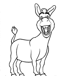 Small Picture Free coloring pages of donkey from shrek disney characters
