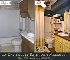 cheap bathroom makeover. 20 day small bathroom makeover before and after amazing of cheap ideas e