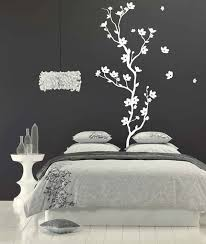 creative idea walls art for bedroom black painted background all white paintings beautiful natural concept