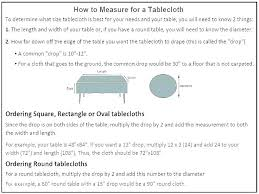 round tablecloth sizes tablecloths beautiful what size of do i need chart oblong oval calculator ta rectangular tablecloth oval sizes