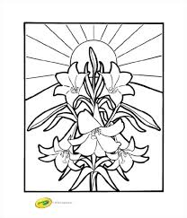 Easter Pictures Coloring Pages Lilies Coloring Page Crayola Free