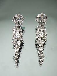 vintage swarovski crystal cer chandelier earring 4 5cm long bridal earrings
