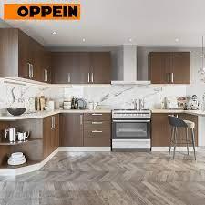 China Oppein Interior Kitchen U Shaped Melamine 3d Kitchen Design Wood Grain Cabinets China Wood Grain Kitchen Cabinet U Shaped Kitchen