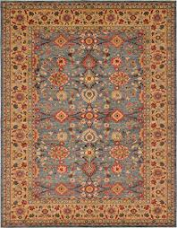 a2z rug heritage collection persian traditional area rug blue brown 10 x 13