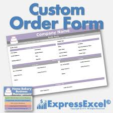 Company Order Form Template Awesome Cake Cupcake And Cookie Decorating Business Printable Order Etsy