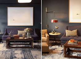 View in gallery Custom rug accentuates the masculine vibe of the room  [Design: David Scott Interiors]