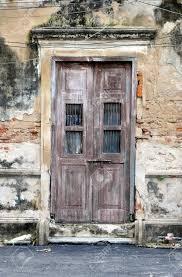 old door of brick building background stock photo 15806673