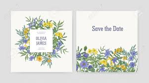 Save The Date Cards Templates Wedding Party Invitation And Save The Date Card Templates Decorated