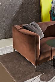 compact sofa contemporary leather fabric