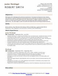 Paralegal Resume Paralegal Resume Samples Qwikresume