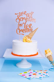 Ice Cream Party Cake Topper With Cricut Knife Blade The