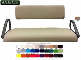 e z go workhorse custom golf cart seat covers marine grade vinyl no stripe