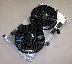 brushless spal fans and dewitts rad initial fit up corvetteforum i ll need to notch the plate for my oil cooler lines