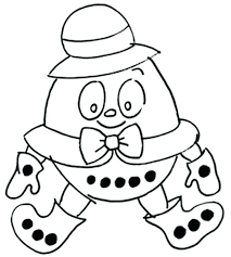 humpty dumpty preschool coloring page pages nursery