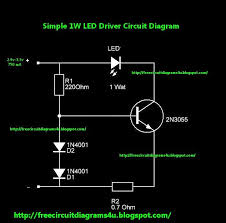circuit diagrams 4u 1w led driver circuit diagram today circuit diagrams 4u is going to give you a simple led driver circuit diagram this can give a smooth current to your led this can drive 1w led