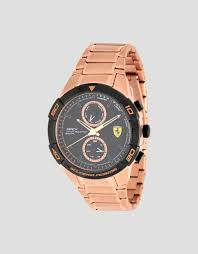 Ferrari Multi Functional Rose Gold Color Apex Watch Man Scuderia Ferrari Official Store
