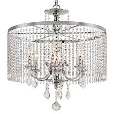 home decorators collection 6 light polished chrome chandelier with k9 crystal dangles