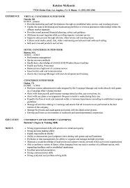 Concierge Supervisor Resume Samples Velvet Jobs