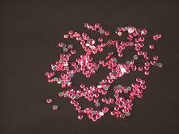 Kamínky Na Nehty Kulaté Sytě Růžové 175mm 40ks Kosmetika Nehty