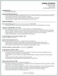 Executive Assistant Career Objective Resume Objectives Administrative Assistant Acepeople Co