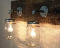 Decorating Ideas For Glass Jars Interior Rustic Light Fixtures Ceiling Design With Glass Jar 82