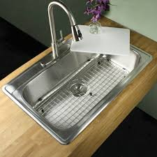 inch stainless steel drop in single bowl kitchen sink accessories kitchen sliding cutting board sink kitchen ideas