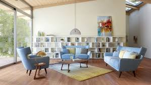 How To Design Your Living Room how to decorate your living room with a modern blue fabric sofa 7360 by uwakikaiketsu.us