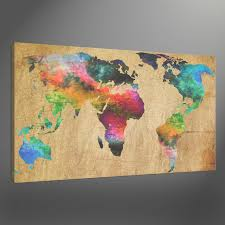 old world atlas maps canvas art print box framed picture wall and pertaining to wall