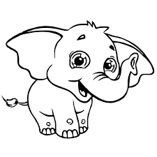Sweety Elephant Coloring Page Wecoloringpagecom
