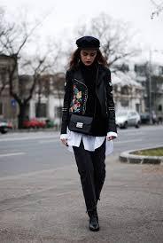 fl embroidered leather jacket black turtleneck sweater oversized white on down shirt vintage