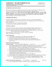 Certified Developer Resume Sample Resume For Oracle Pl Sql Developer Glamorous 23 Best