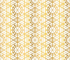 white and gold art deco wallpaper
