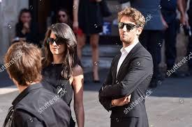 French driver Romain Grosjean his wife ...