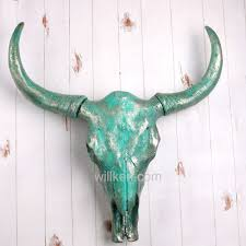 china resin cyan animal bull skull wall hanging decor china wall art home decoration