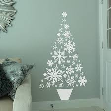 Snowflake Christmas Tree Wall Sticker By All Things Brighton Snowflakes For Christmas Tree