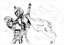 Star Wars Boba Fett Movies Adult Coloring Pages